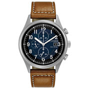 Citizen Mens Brown Strap Watch-Ca0621-05l