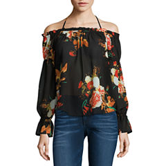 i jeans by Buffalo Tie Front Off Shoulder Top