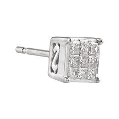 1/10 CT. T.W. Diamond 10K White Gold Single Stud Earring