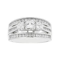Love Lives Forever™ 1 CT. T.W. Princess-Cut Diamond 10K White Gold 3-Stone Ring