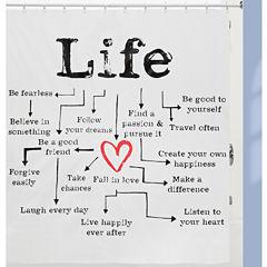 Life Chart PEVA Shower Curtain
