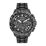 Citizen® Eco-Drive Promaster Navihawk Mens World Time GPS Black Titanium Strap Watch CC9025-85E