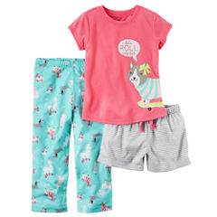 Carter's Baby Girl 3pc Sleepwear Set
