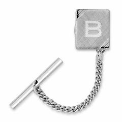 Tie Tack with Facet-Cut Corners