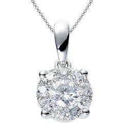 Brilliant Dream™  1/3 CT. T.W. Round Diamond Pendant Necklace
