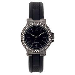 Mixit Womens Black Strap Watch-Jcp2979gbk