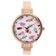Mixit Womens Rose Goldtone Bangle Watch-Jcp2977ric