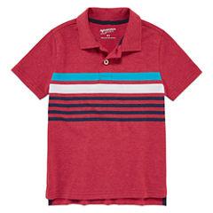 Arizona Short Sleeve Solid Pique Polo Shirt - Toddler Boys