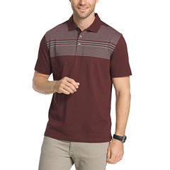 Van Heusen Short Sleeve Blocked Engineered Stripe Polo Shirt