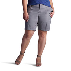 Lee Relaxed Fit Twill Bermuda Shorts-Plus