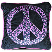 Seventeen® Natalie Peace Sign Square Decorative Pillow