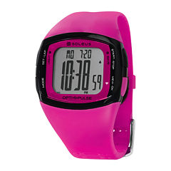 Soleus Rhythm Womens Pink Digital Heart Rate Monitor Watch