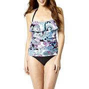 St. John's Bay® Paisley Print Flounce Tankini Swim Top or Swim Bottoms