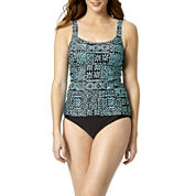 St. John's Bay® Geometric Print Tankini Swim Top or Swim Bottoms