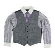 Steve Harvey® 3-pc. Vest, Shirt and Clip-On Tie Set - Boys 8-20