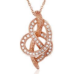 LIMITED QUANTITIES Le Vian Grand Sample Sale 1/4 CT. T.W. Diamond 14K Rose Gold Knot Pendant Necklace
