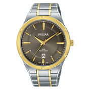 Pulsar Mens Silver Tone Bracelet Watch-Ps9522