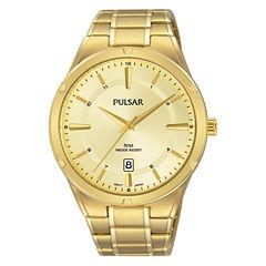 Pulsar Mens Gold Tone Bracelet Watch-Ps9524