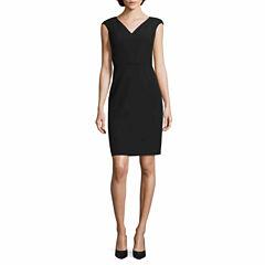 Worthington Short Sleeve Sheath Dress-Talls