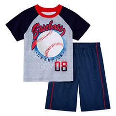 Jelli Fish Kids 2-pc. Baseball Pajama Set Boys