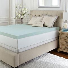 PuraSleep Vila Gel Cooled Luxury Memory Foam Mattress Topper- 3In