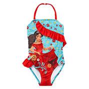 Disney Girls Elena of Avalor Solid One Piece Swimsuit-Big Kid