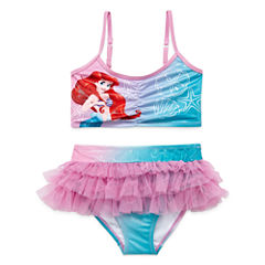 Disney Girls Disney Princess Solid Tankini Set - Toddler