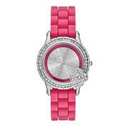 Womens Glitz Bow Silicone Strap Watch