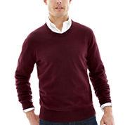 St. John's Bay® Heathered Fine-Gauge Sweater