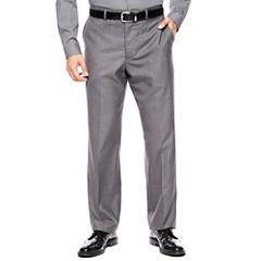 JF J. Ferrar® Gray Sharkskin Flat Front Suit Pants - Classic Fit