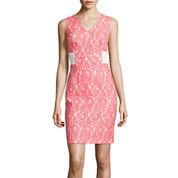 Worthington® Sleeveless Lace Sheath Dress