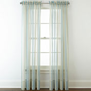 Liz Claiborne® Lisette Stripe Sheer Rod-Pocket Curtain Panel