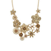 Bold Elements Clear Statement Necklace
