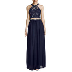 My Michelle Sleeveless Beaded Sequin Dress Set-Juniors