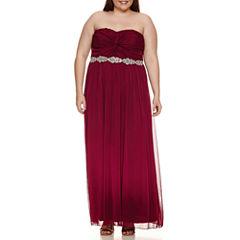 City Triangle Sleeveless Evening Gown-Juniors Plus