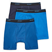 Jockey® 3-pk. Staycool Plus Boxer Briefs
