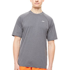 Speedo Easy Short Sleeve Heather Swim Tee