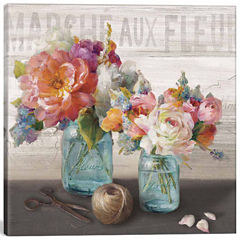Icanvas French Cottage Bouquet Iii Canvas Art