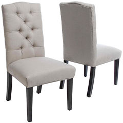 Leon Set of 2 Tufted Dining Chairs