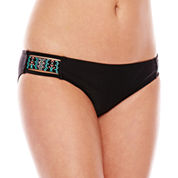 Ninety-Six Degrees Tribe Trotter Embroidered Hipster Swim Bottoms