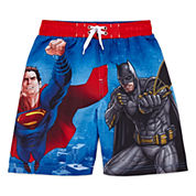 Batman vs. Superman Swim Trunks - Preschool Boys 4-7