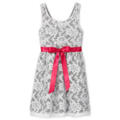 by&by girl Not Applicable Sleeveless Skater Dress - Big Kid Girls