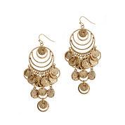 El By Erica Lyons Gold Over Brass Chandelier Earrings