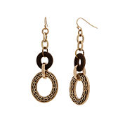 El By Erica Lyons Gold Over Brass Drop Earrings