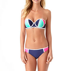 Arizona Bandeau Colorblock Swimsuit Top or Hipster Bottoms-Juniors