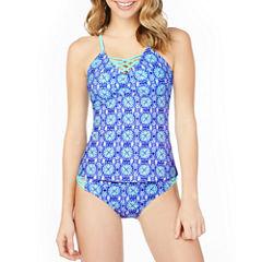 Arizona Medallion Tankini Swimsuit Top-Juniors