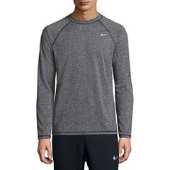 Nike Solid Heather Long Sleeve Swim Tee 40+ UPF Protection