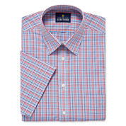 Stafford Travel Easy-Care Broadcloth Short Sleeve Dress Shirt