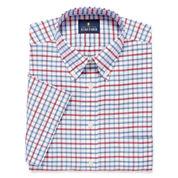 STAFFORD TRAVEL WRINKLE FREE SHORT-SLEEVE OXFORD DRESS SHIRT