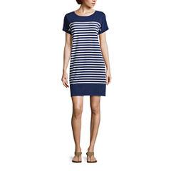 Liz Claiborne Short Sleeve A-Line Dress
